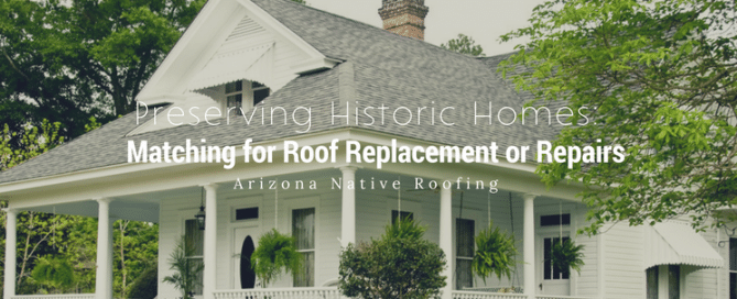 Preserving historic homes: Matching for roof replacement or repairs